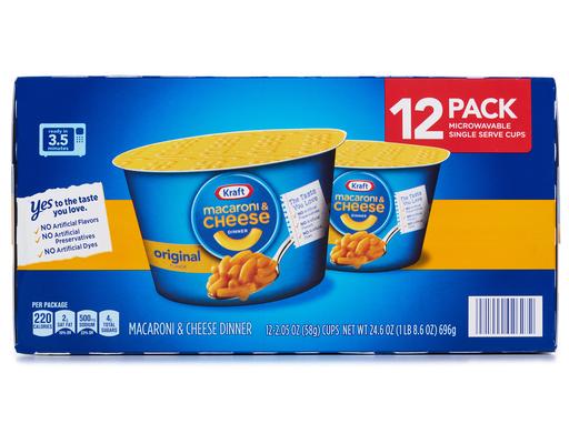 Kraft Macaroni & Cheese Dinner - 12 Pack