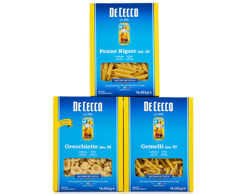 De Cecco Pasta Variety Pack - 3 Pack
