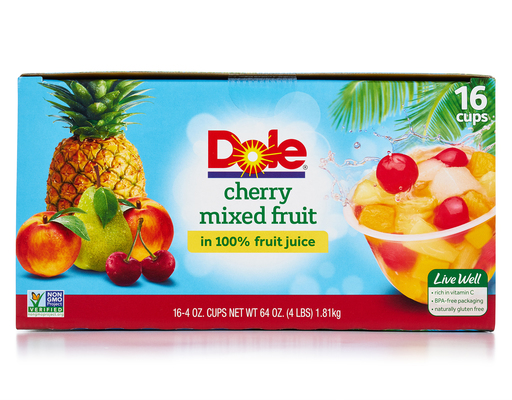 Dole Cherry Mixed Fruit - 16 Pack