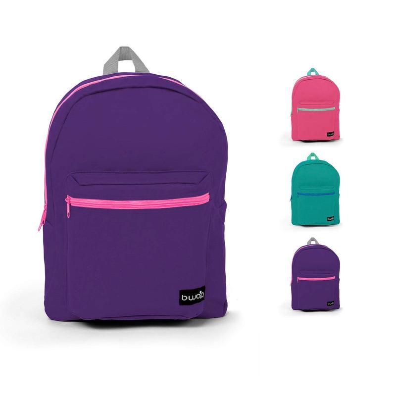 """16"""" Standard Backpack - (12 count, assorted colors)"""