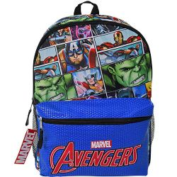 """16"""" Avengers Backpack with Pocket - (6 count)"""