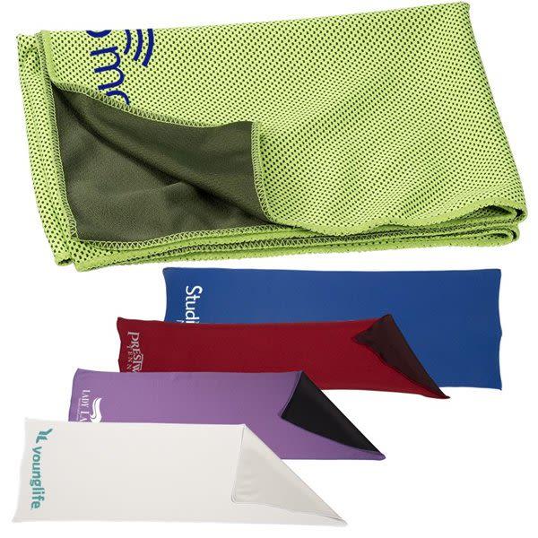 Imprinted Cooling Towel - Neck Wrap - 10pk