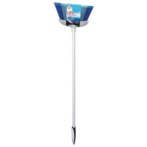 "Deluxe Angle Broom, 5 1/2"" Bristles, 55.37"", Metal Handle, White"