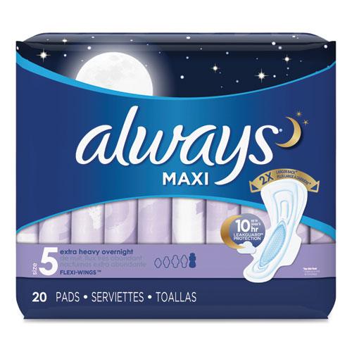 Maxi Pads - Extra Heavy Overnight - 6 Packs of 20