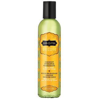 Kama Sutra Naturals Massage Oil-Coconut Pineapple 8oz-img-0