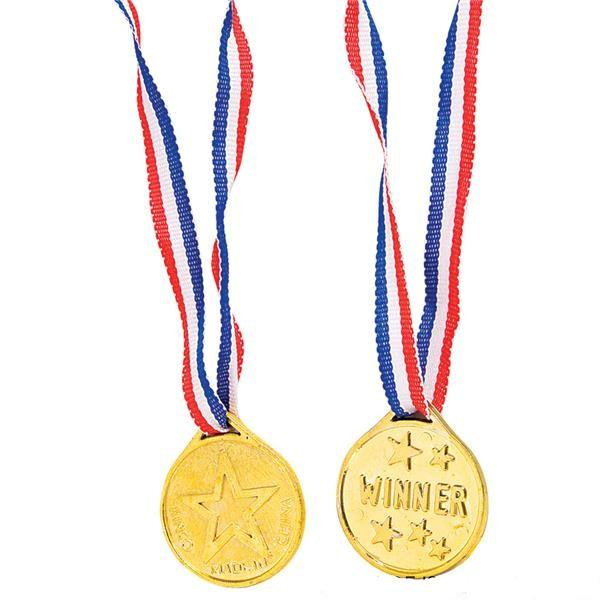 Gold Prize Medals 12 pk