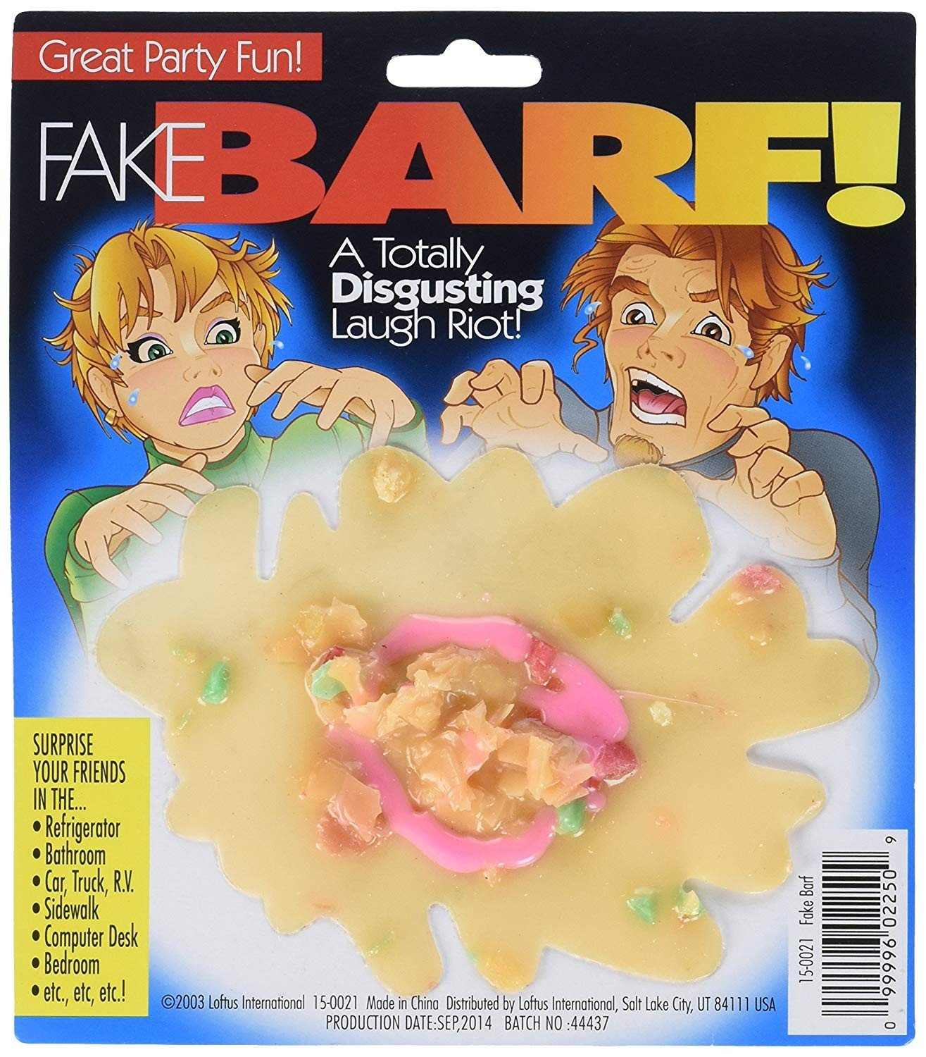 It Looks So Real! Fake Barf