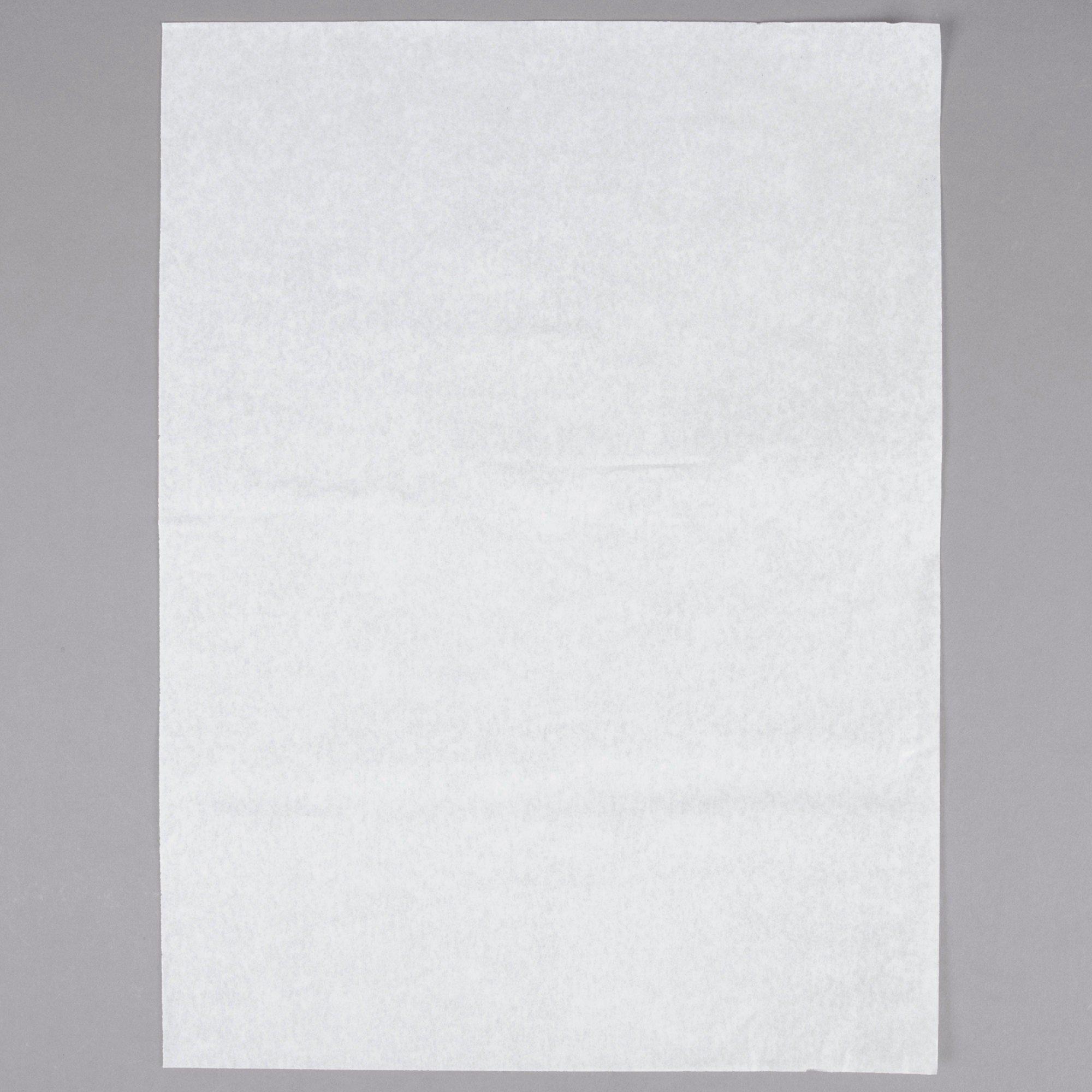 """Quilon-Coated Parchment Paper - 12"""" x 16"""" Half Sheet - White"""