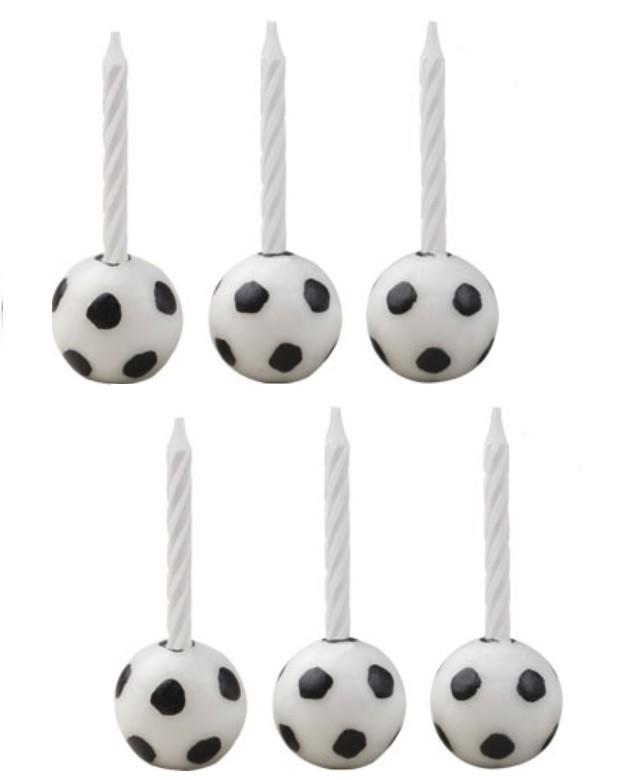 Soccer Candleholder Sets, 1 Set (6 candles)