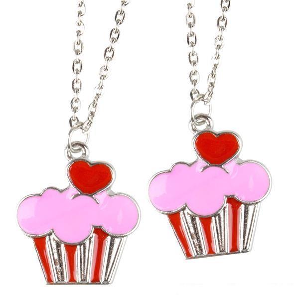 Valentine Day 16'' Cupcake Heart Necklace 12 ct